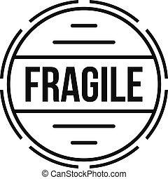 Fragile logo, simple style. - Fragile logo. Simple...
