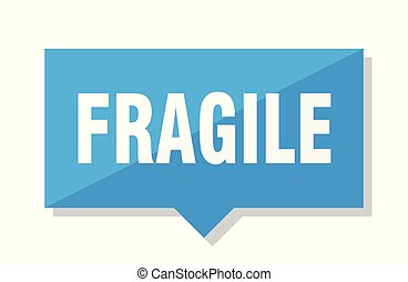 fragile price tag - fragile blue square price tag