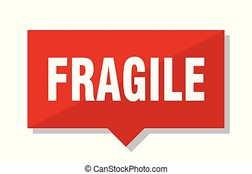fragile red tag - fragile red square price tag