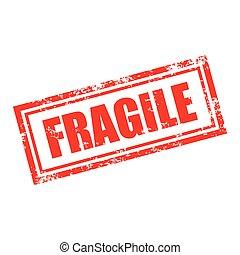fragile stamp