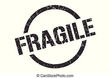 fragile stamp - fragile black round stamp