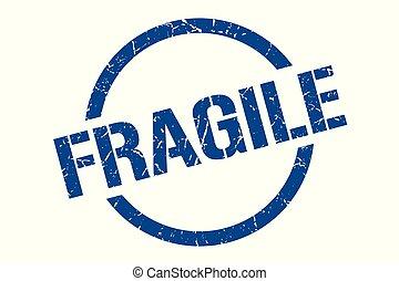 fragile stamp - fragile blue round stamp