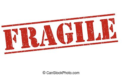 Fragile grunge rubber stamp on white background, vector illustration
