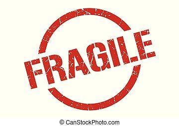 fragile stamp - fragile red round stamp