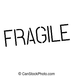 fragile stamp on white background Sign, label, sticker