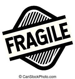 fragile stamp on white background . Sign, label sticker
