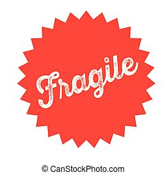 fragile stamp on white - fragile black stamp in italian...