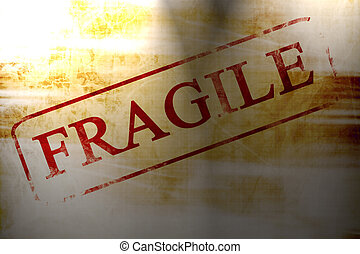 fragile stamp on a paper like background