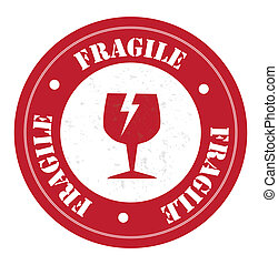 fragile design over white background vector illustration