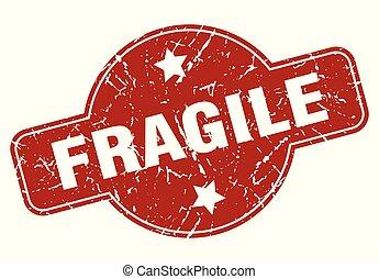 fragile vintage stamp. fragile sign
