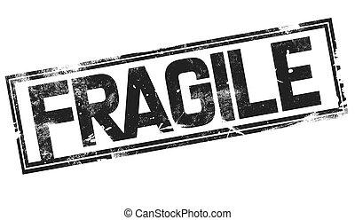 Fragile word with black frame