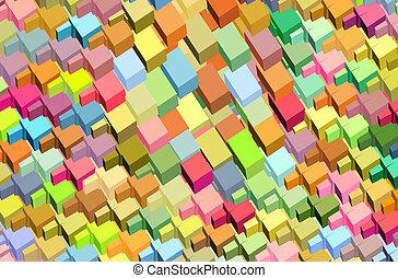 fragmenté, arc-en-ciel, couleur, modèle, résumé, surface, toile de fond