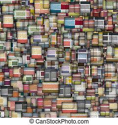 fragmenté, multiple, couleur, tuile mosaïque, toile de fond
