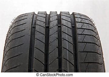 Fragment A brand new modern summer tire