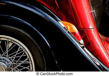 fragment, auto, altes