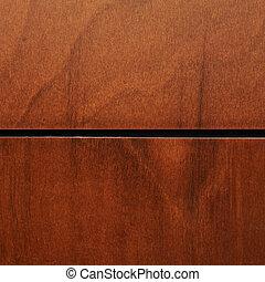 fragment, brun, fernissa, ved