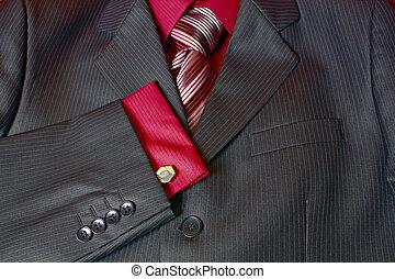 fragment, cravate, homme, chemise, complet
