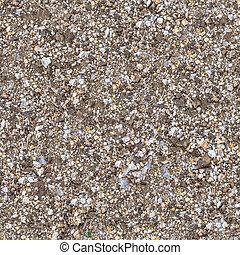 fragment, gemengd, soil., seamless, textuur