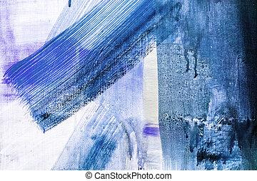 fragment, geverfde, doek, textuur