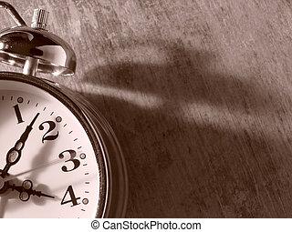 fragment, horloge, reveil