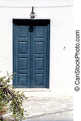 Fragment of a house with door