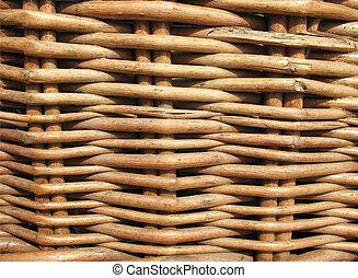 Fragment of a wicker basket