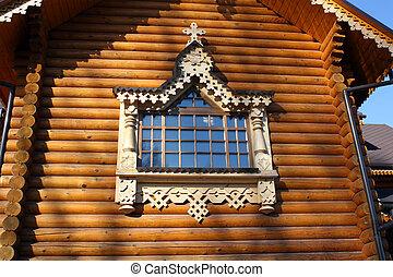 fragment of a wooden church