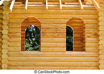 Fragment of a wooden house