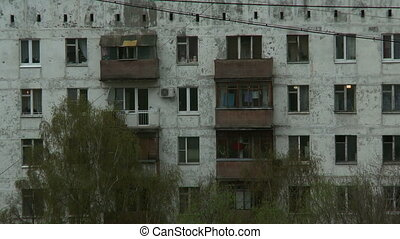 Fragment of apartment building