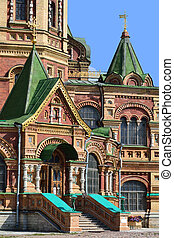 Fragment of Cathedral in Peterhof, Russia