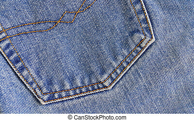 Fragment of classic blue jeans