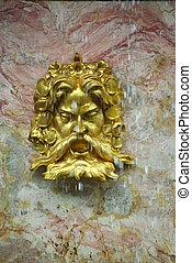 Fragment of Fountain In Peterhof