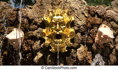 Fragment of fountain in the Summer garden. Saint-Petersburg.
