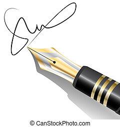 fountain ink pen