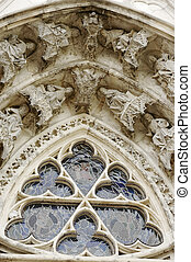fragment of gothic cathedral