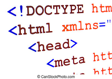 Fragment of HTML source code of web page with title -...