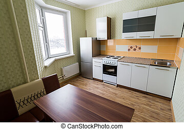 Fragment of interior kitchen economy class