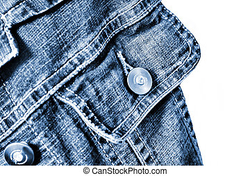 fragment of jeans jacket