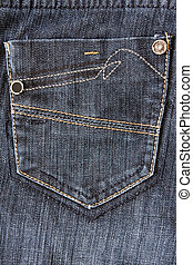 fragment of jeans with pocket