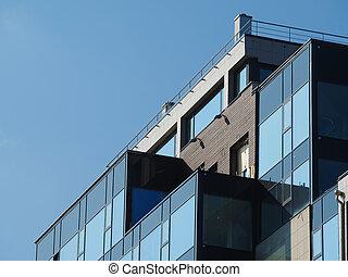 fragment of modern building