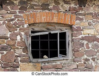 fragment of old barn