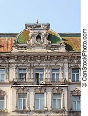 Fragment of old building in Lviv