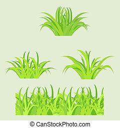 Fragment of paper green grass