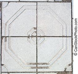 fragment of paving slabs