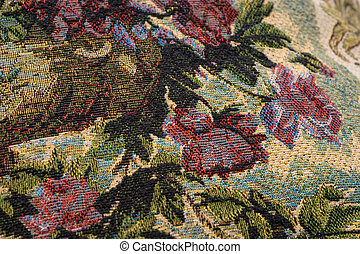 Fragment of tapestry - Fragment of the tapestry with...