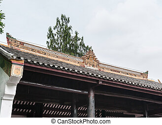 fragment of the Chinese roof