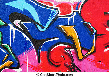 Fragment of the colorful graffiti