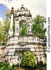 Fragment of the fence of the park Massandra Palace, Crimea