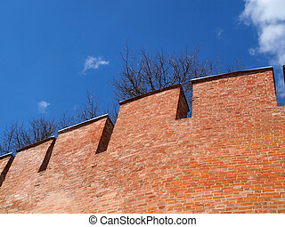 Fortress wall - Fragment of the old and aged Fortress wall