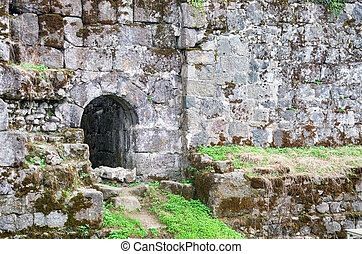 old fortress wall - Fragment of the old fortress wall with ...